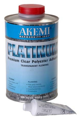 Akemi platinum transparent flowing polyester