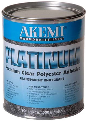 Akemi platinum transparent knifegrade polyester