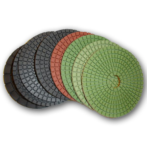 JX Shine Diamond Polishing Pads 5""