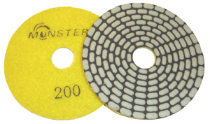 Monster Bric Dry Diamond Polishing Pads - 200 Grit