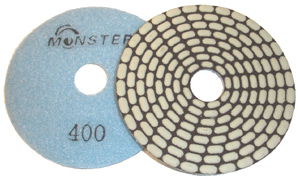 Monster Bric Dry Diamond Polishing Pads - 400 Grit