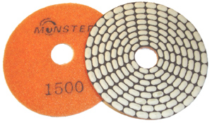 Monster Bric Dry Diamond Polishing Pads - 1500 Grit