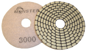 Monster Bric Dry Diamond Polishing Pads - 3000 Grit