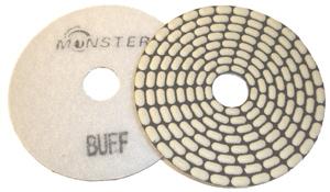 Monster Bric Dry Diamond Polishing Pads - White Buff
