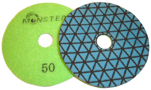Monster Trio Dry Diamond Polishing Pads - 50 Grit