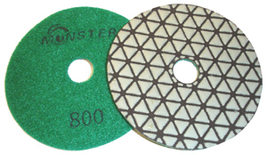 Monster Trio Dry Diamond Polishing Pads - 800 Grit