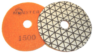 Monster Trio Dry Diamond Polishing Pads - 1500 Grit