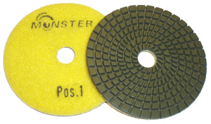 5-Step Monster Diamond Polishing Pads POS 1