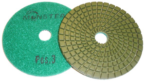 5-Step Monster Diamond Polishing Pads POS 3