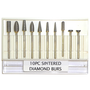 Sintered diamond bur set