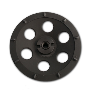 PCD cup wheel for concrete coating removal