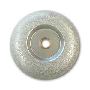 Convex brazed diamond cup wheel 5""