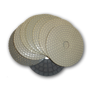 ADT Dry Diamond Polishing Pad - Set of 8 pcs with Black Buff