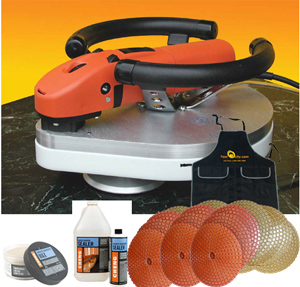 DS301 Wet Polisher Package for Concrete Counter Tops