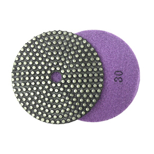 "5"" metal bond flexible diamond grinding pad 30 grit"