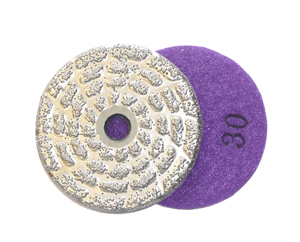 "brazed diamond pads 3"" 30 grit"