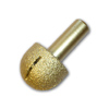 Rounded Brazed Diamond Router Bit 1/2