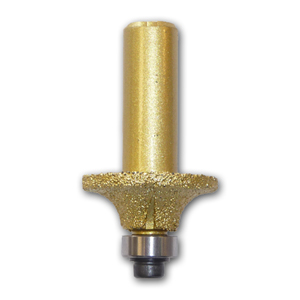3/16 inch Radius Brazed Diamond Router Bit with 1/2 inch Shank