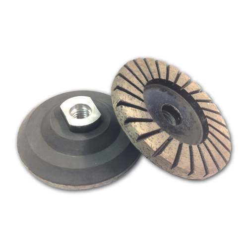 Qqa Diamond Cup Wheels With Rubber Backer