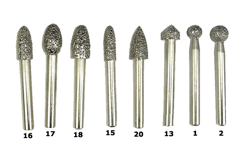 Diamond Burs For Stone Carving And Dental Work