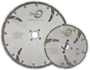 Super cyclone marble diamond blade