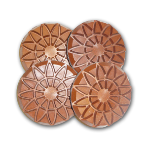 Meta-rose copper bond diamond floor polishing disc