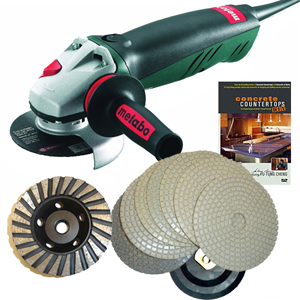 Concrete Countertop Polishing Package Dry
