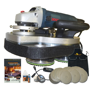 T Rex Wet Dry Polisher Package For Concrete Counter Tops
