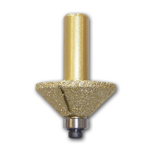 "Bevel Diamond Router Bit with 1/2"" Shank"