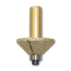 Bevel Diamond Router Bit with 1/2